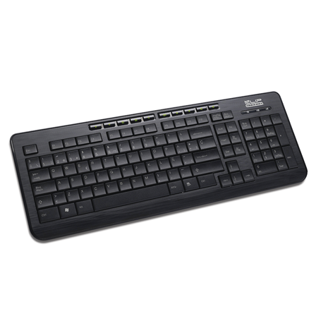 KlipX Keyboard KKM-250S wired multimedia USB Black KKM-250S